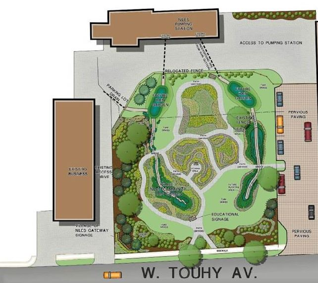 Rain Garden overview map