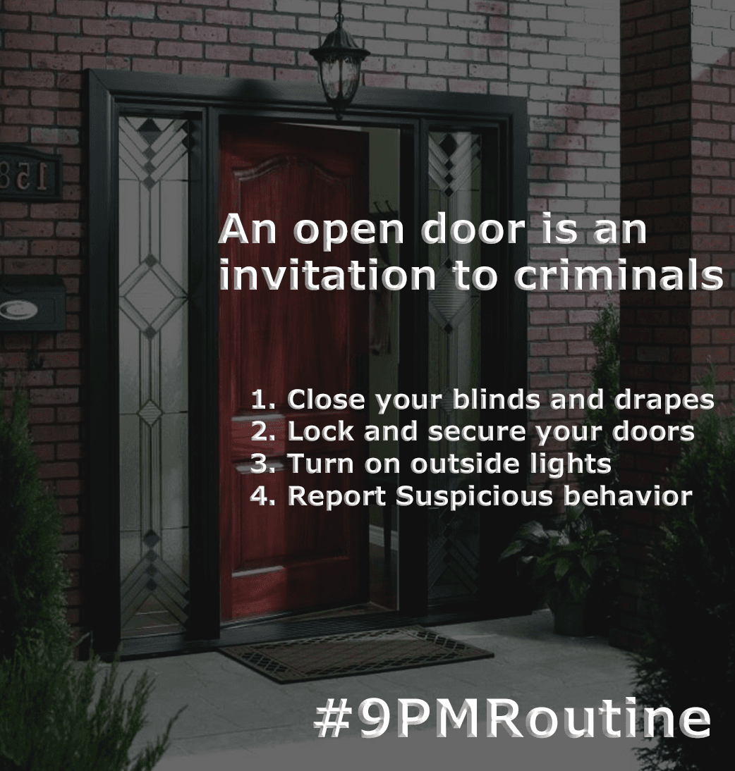 9pmroutine - lock your doors