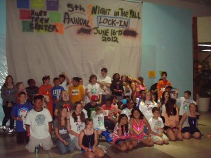 """Night In the Mall"" Lock-In - 3:45 a.m. Group Picture"