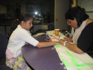 Nail Salon Day with the social work interns