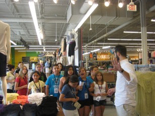 ob Shadow Experience Whole group getting a tour of the store