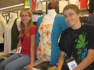 Job Shadow Experience Rachael and Alan dressed the mannequin