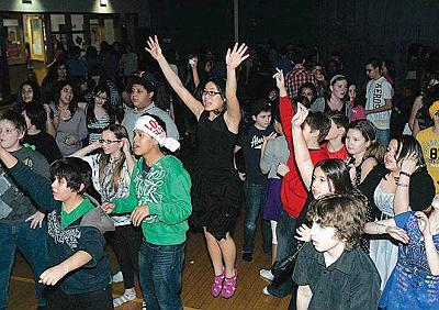 Teens during the Valentine's Day Dance