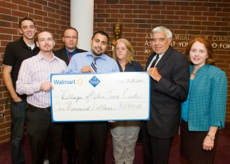 Walmart donates $1000 to the Teen Center to assist with the purchase of video surveillance cameras