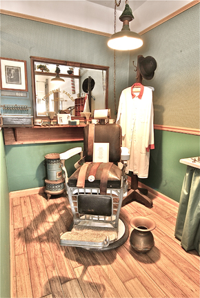 Early 1900s barber shop