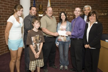 Check Presentation to Habitat for Humanity
