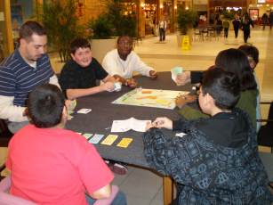 Playing Monopoly in the mall
